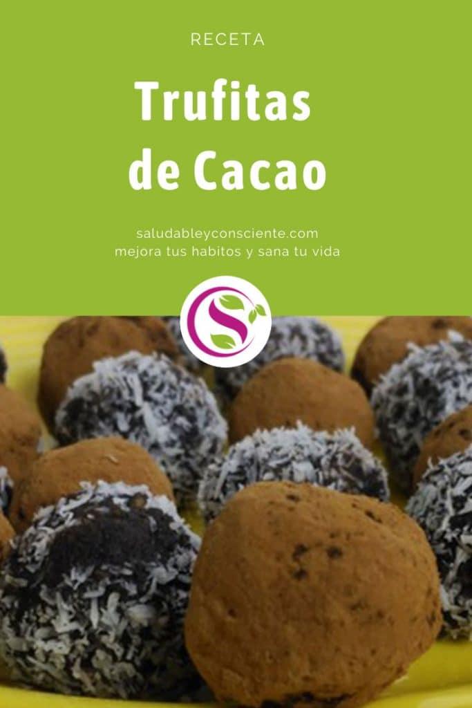 Trufitas de cacao y datiles