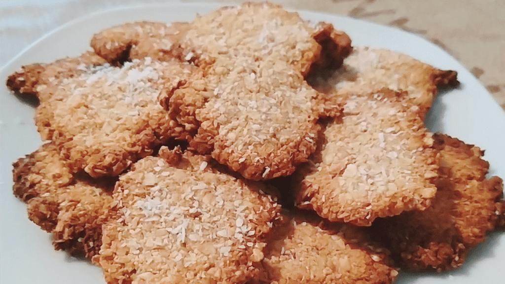Receta de irresistibles galletas de avena, plátano y coco
